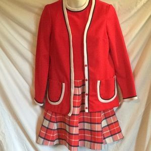 Vintage late 1960s/early70s red/white/blue outfit